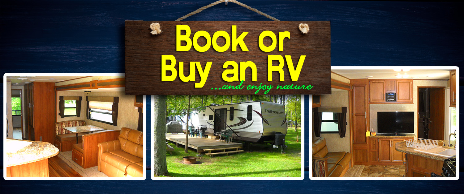 Pine Valley Camping Resort Book or Buy RV Banner